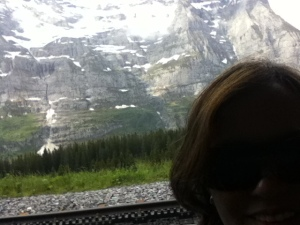 (Inside a train on our way to the Swiss mountaintop) Oh Switzerland, my Switzerland... Could I ever forget you?