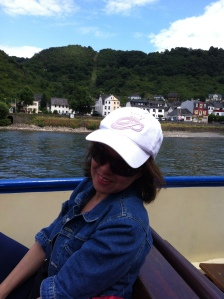 The Rhine River Cruise was relaxing. See, I'm smiling....