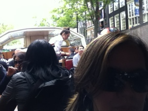 Canal cruising in Amsterdam. The  setting is gorgeous.