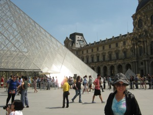 Overcrowded Louvre Museum. Plus it was hot in Paris. I don't like hot weather.